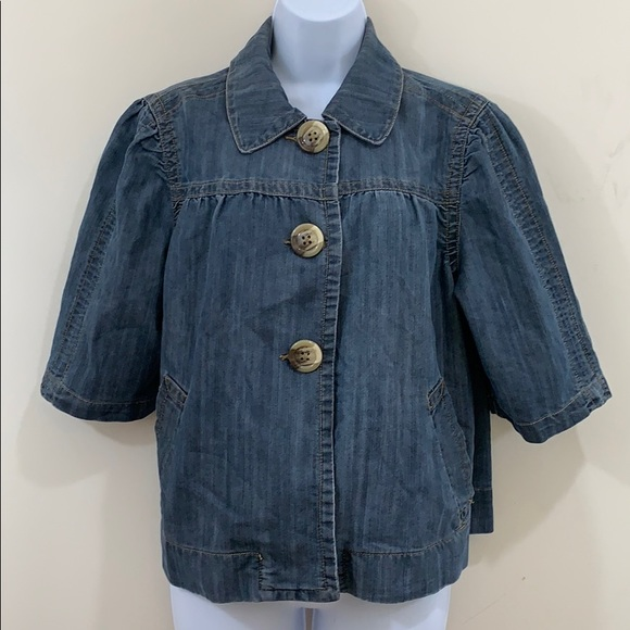 Venezia Cropped 3 Button Jean Jacket  Size 14 / 16